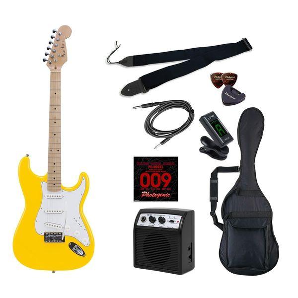 【送料込】【初心者入門9点セット】Photogenic ST-180M/YW エレキギター ライトセット【smtb-TK】