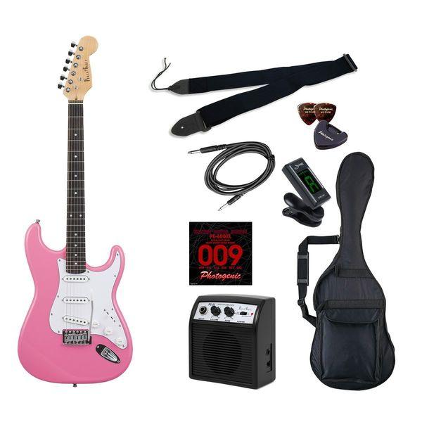 【送料込】【初心者入門9点セット】Photogenic ST-180/PK エレキギター ライトセット【smtb-TK】