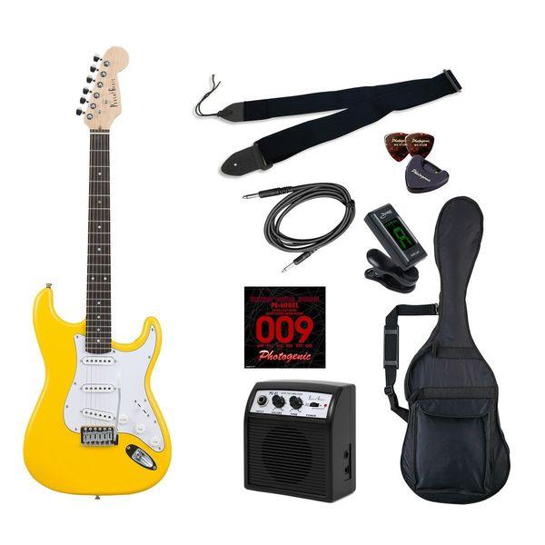 【送料込】【初心者入門9点セット】Photogenic ST-180/YW エレキギター ライトセット【smtb-TK】