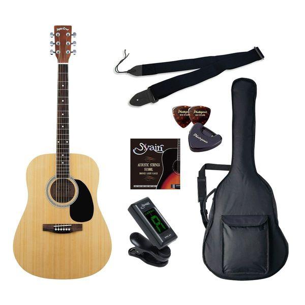 【送料込】【初心者入門6点セット】Sepia Crue セピアクルー WG-10/N アコースティックギター ライトセット【smtb-TK】
