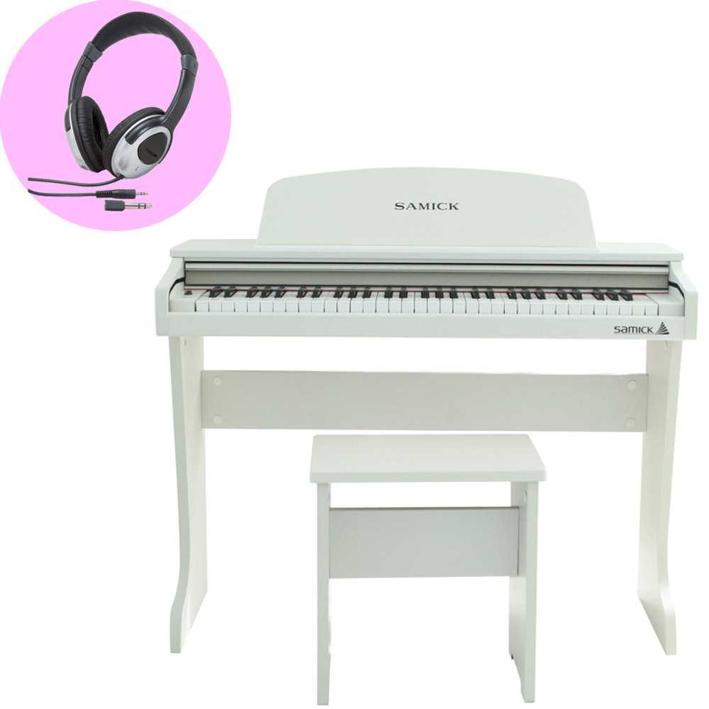 【送料込】【ヘッドホン付】SAMICK サミック 61KID-O2 ホワイト 白 ミニ デジタルピアノ 61鍵盤 子供用 電子ピアノ 【smtb-TK】