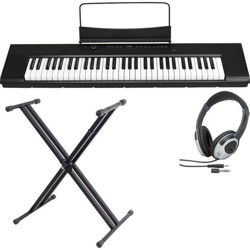 【送料込】【スタンド+ヘッドホン付】artesia アルテシア A-61/BK 61鍵 セミ・ウエイト鍵盤 モバイル・デジタルピアノ 【smtb-TK】