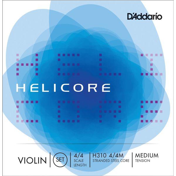 D'Addario H310 4 4M 新登場 HELICORE セット SET バイオリン弦 定番から日本未入荷 MED