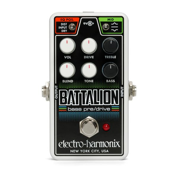 【送料込】ELECTRO HARMONIX エレクトロハーモニックス Nano Battalion Bass Preamp & Overdrive ベース用プリアンプ&オーバードライブ 【smtb-TK】