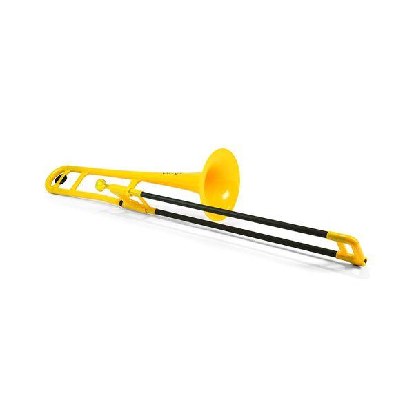 送料込 pinstruments pBone Yellow 新発売 プラスチック製 PBONE1Y B♭テナートロンボーン 贈り物 smtb-TK