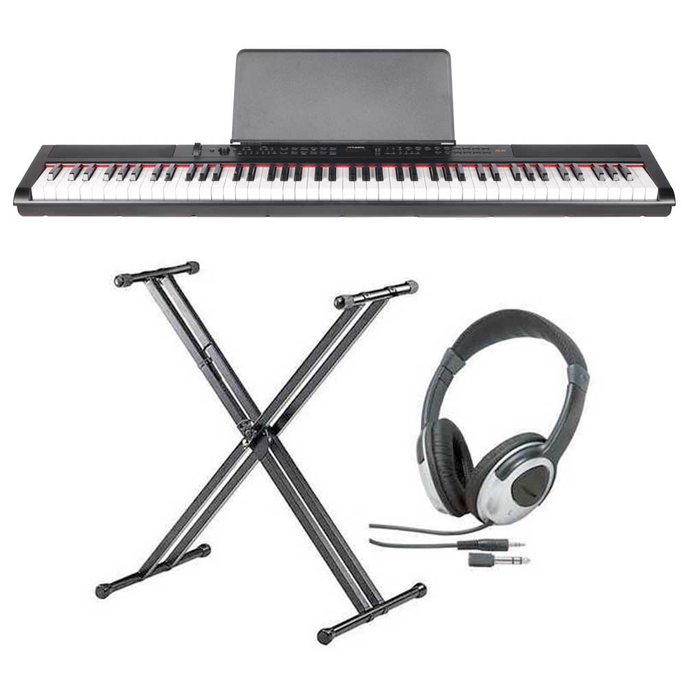 【送料込】【スタンド+ヘッドホン付】artesia アルテシア PE-88 ステージ・ピアノ セミ・ウエイト鍵盤 デジタルピアノ 【smtb-TK】