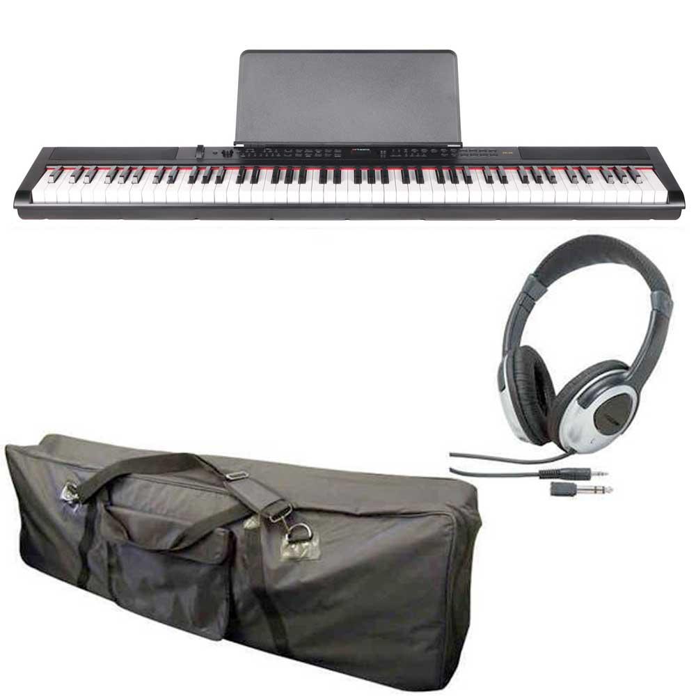 【送料込】【ケース+ヘッドホン付】artesia アルテシア PE-88 ステージ・ピアノ セミ・ウエイト鍵盤 デジタルピアノ 【smtb-TK】