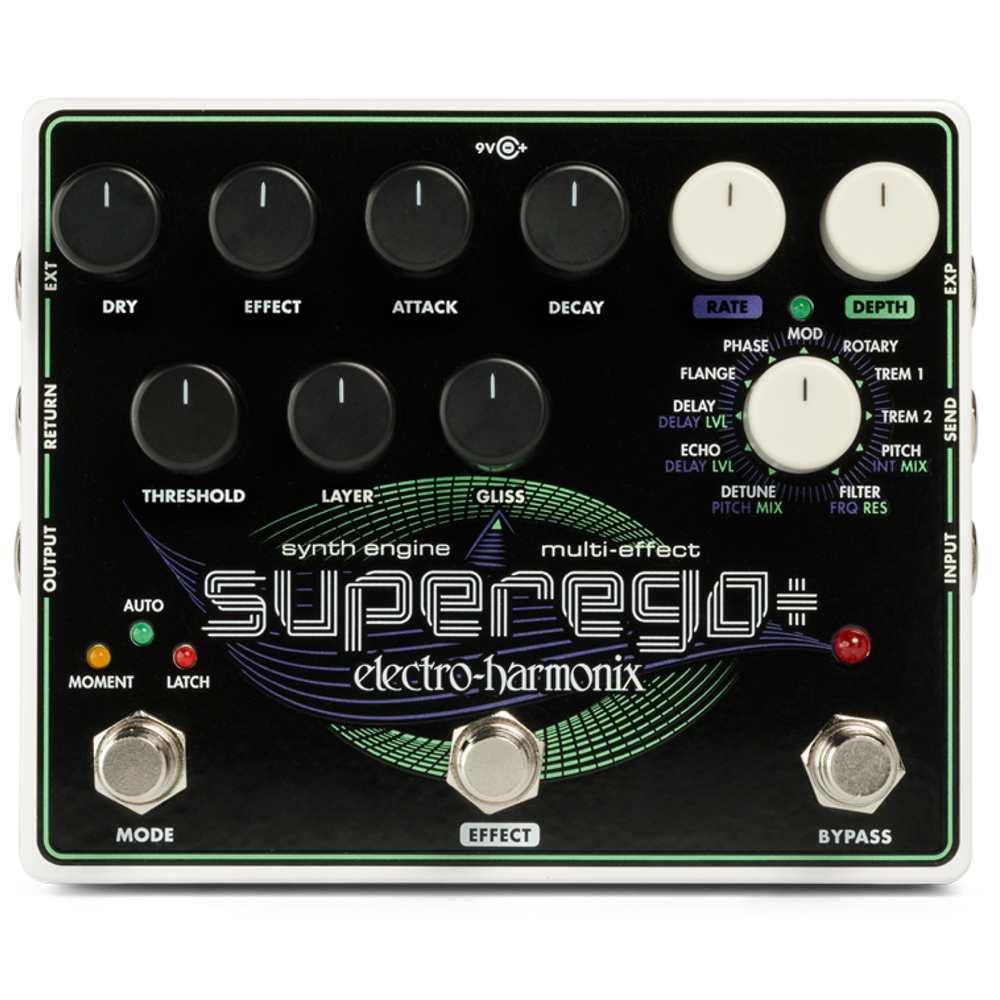 【送料込】【国内正規品】electro-harmonix エレクトロハーモニックス Superego Plus Superego+ Synth Engine Multi Effect シンセエンジン マルチエフェクト【smtb-TK】