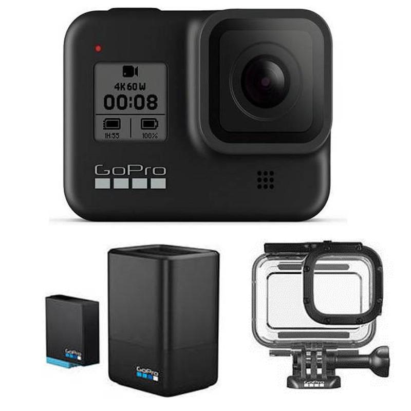 【送料込】【国内正規品】【充電器セット+ダイブハウジング付】GoPro CHDHX-801-FW HERO8 BLACK ウェアラブル・カメラ【smtb-TK】