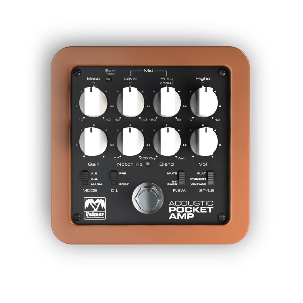 【送料込】Palmer パルマー Pocket Amp Acoustic アコースティックギター用 プリアンプ / D.I.【smtb-TK】