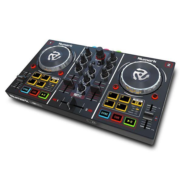 【送料込】Numark ヌマーク Party Mix コンパクト 2デッキ DJコントローラー LEDパーティライト装備 【smtb-TK】