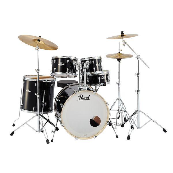 【送料込】Pearl パール EXX725S/C No.31/ジェットブラック EXX Covering シンバル付ドラムフルセット【smtb-TK】