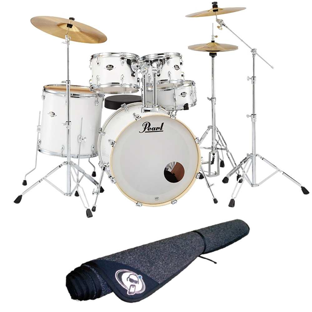 【送料込】【ドラムマット付】Pearl パール EXX725S/C No.33/ピュアホワイト EXX Covering シンバル付ドラムフルセット【smtb-TK】