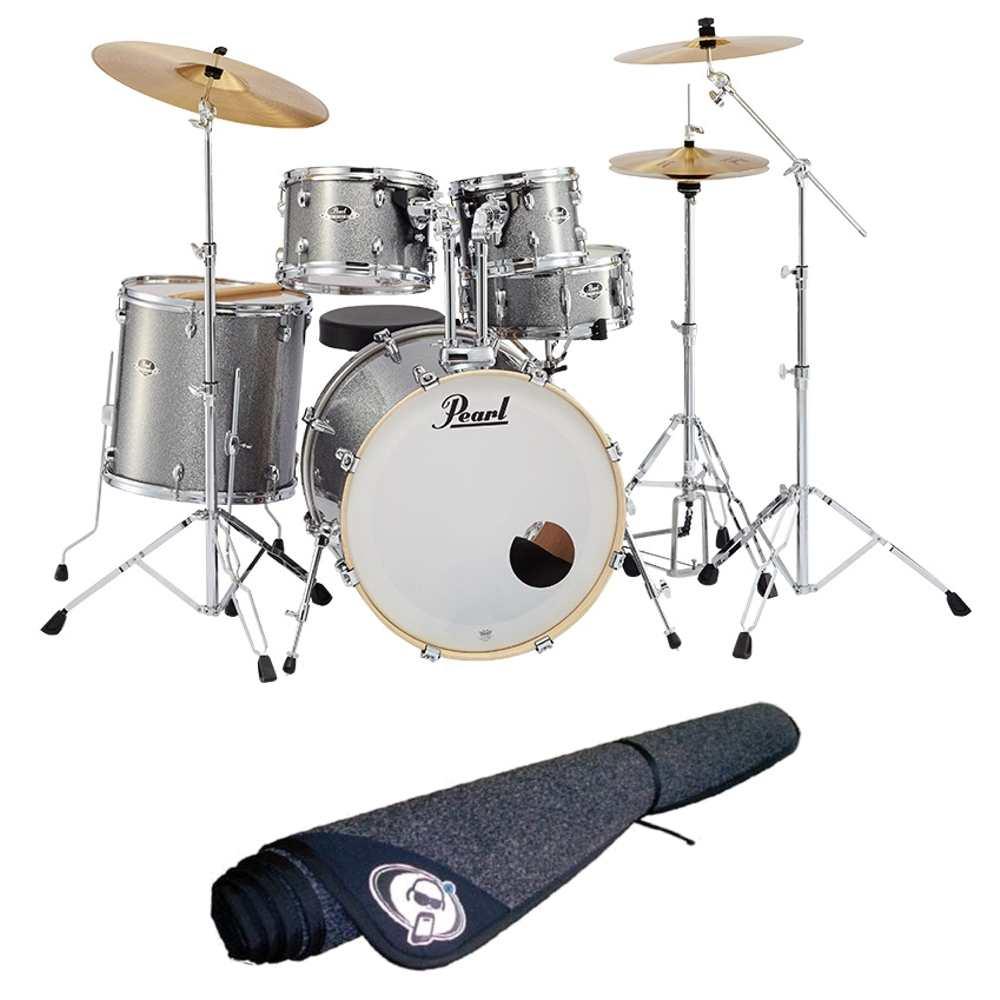 【送料込】【ドラムマット付】Pearl パール EXX725S/C No.708/グラインドストーンスパークル EXX Covering シンバル付ドラムフルセット【smtb-TK】