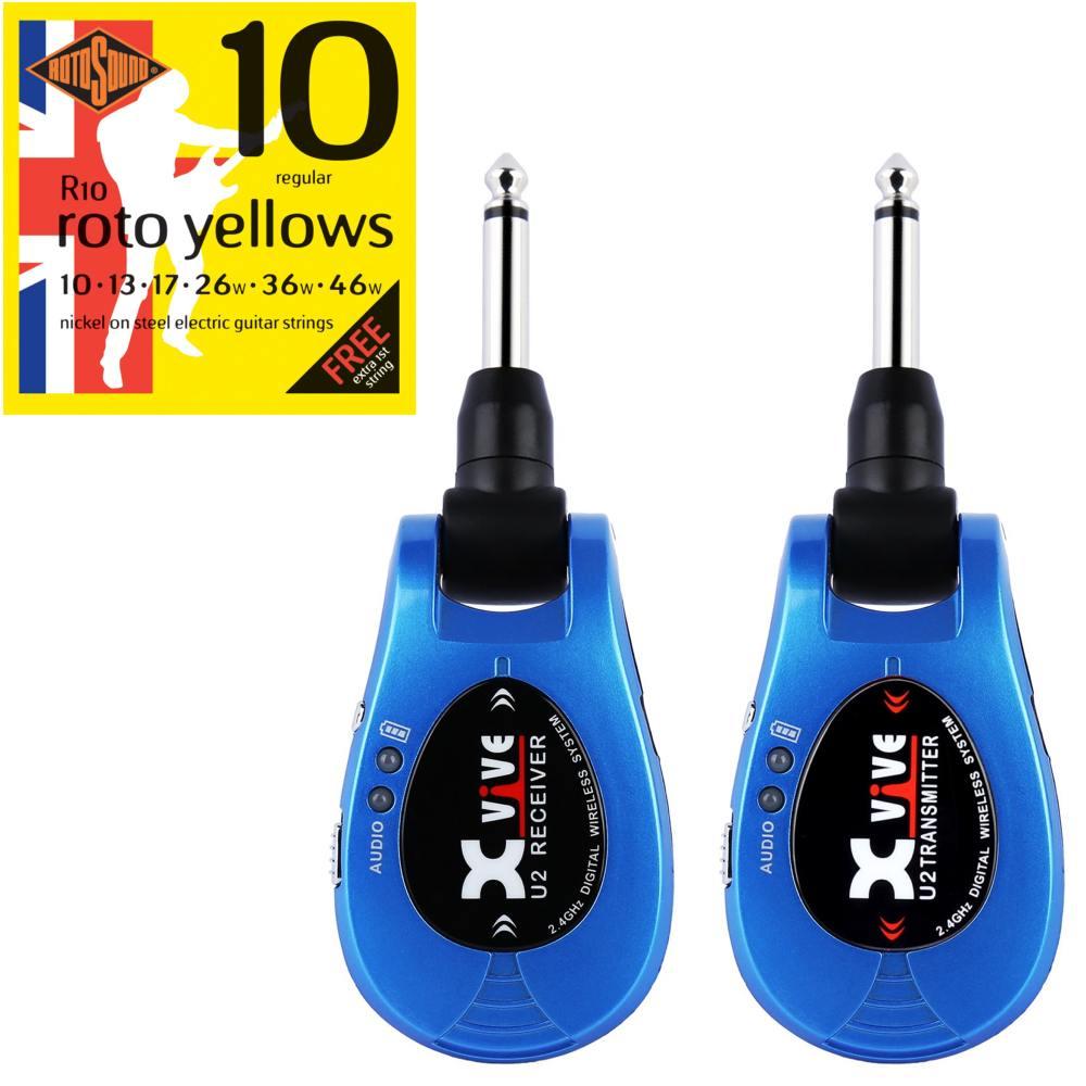 【特典付】【送料込】【限定モデル】Xvive エックスバイブ XV-U2/Blue 2.4GHz デジタルワイヤレス・システム 【smtb-TK】