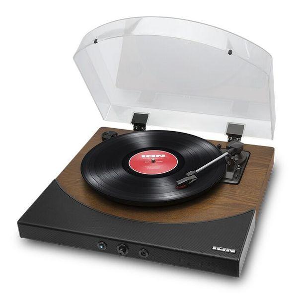 【送料込】ION AUDIO Premier LP WD Brown スピーカー内蔵 Bluetooth対応 オールインワン ターンテーブル レコードプレーヤー 【smtb-TK】