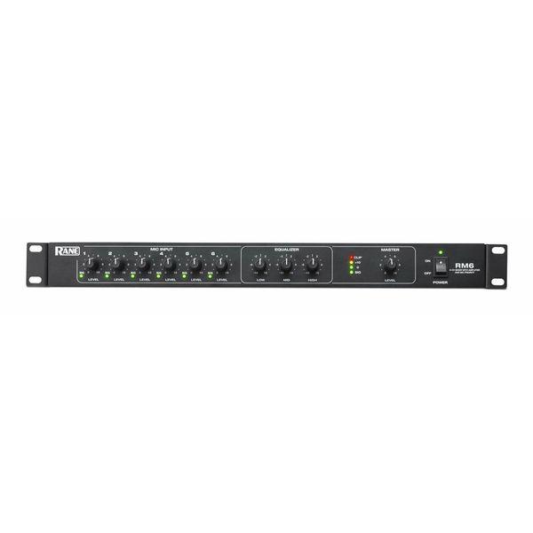 信頼 送料込 RANE おすすめ特集 RM6 120Wアンプ内蔵 マイクラインミキサー 6チャンネル smtb-TK