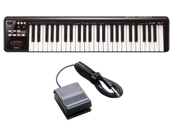 【送料込 Keyboard】【ペダルスイッチ/DP-2付】Roland MIDI/ローランド A-49-BK A-49-BK MIDI Keyboard Controller【smtb-TK】, ALLSPORTS:d9624508 --- sunward.msk.ru