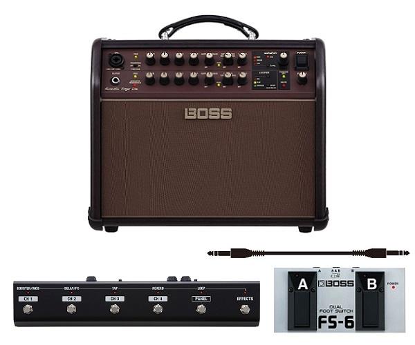 今だけスーパーセール限定 送料込 フットコントローラー GA-FC+フットスイッチ FS-6+audio-technica製接続ケーブル付 BOSS ボス Acoustic Live Singer smtb-TK 定番から日本未入荷 アコースティック ACS-LIVE ステージ アンプ