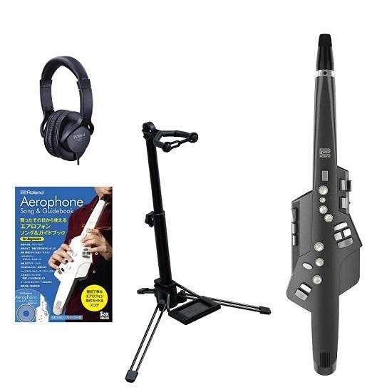 【送料込】【スタンド+純正ヘッドホン+エアロフォン ソング&ガイドブック for Beginners付】Roland ローランド Aerophone AE-10G GRAPHITE BLACK Digital Wind Instrument【smtb-TK】