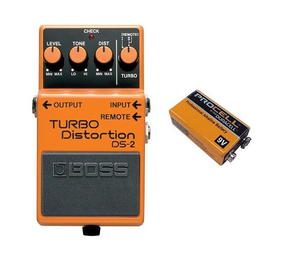 【送料込】ボス BOSS DS-2/TURBO Distortion(9V電池DURACELL PROCELL 006P付)【smtb-TK】