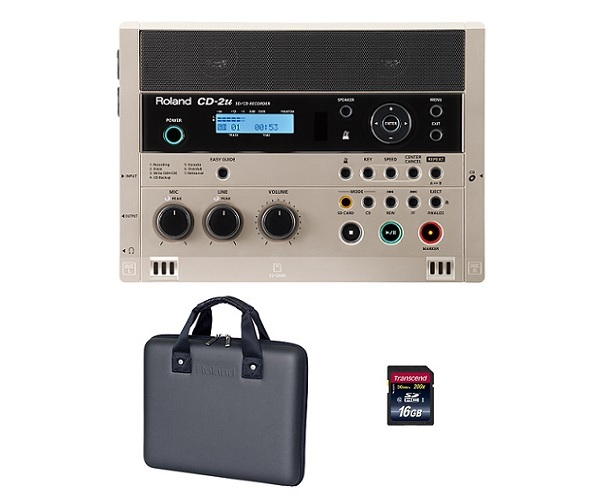 【送料込】【専用ケース/CB-CD2E+SDHCカード/16GB付】Roland ローランド CD-2u SD/CD Recorder SD/CDレコーダー【smtb-TK】