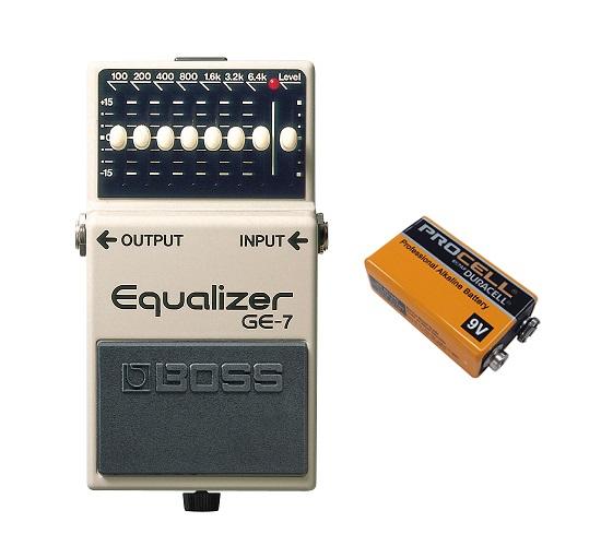 【送料込】ボス BOSS GE-7/Equalizer(9V電池DURACELL PROCELL 006P付)【smtb-TK】