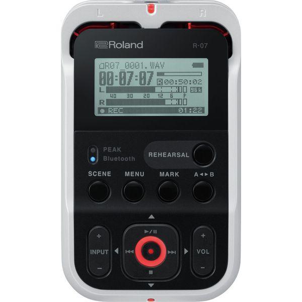 【特典付】【送料込】Roland ローランド R-07/WH ホワイト 簡単、確実、高音質、ワイヤレス・リモコンに対応したオーディオ・レコーダー【smtb-TK】