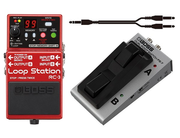 【送料込】【フットスイッチ/FS-7+接続ケーブル付】BOSS ボス RC-3 ループ・ステーション【smtb-TK】