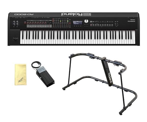 【送料込】【愛曲クロス付】【純正スタンド/KS-G8B+エクスプレッションペダル/EV-5付】Roland ローランド RD-2000 Stage Piano ステージ・ピアノ 【smtb-TK】