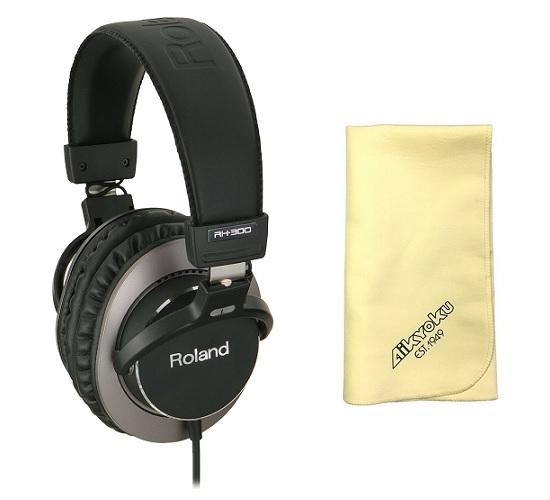 【送料込】【愛曲クロス付】Roland ローランド RH-300 Stereo Headphones 密閉式ヘッドホン【smtb-TK】