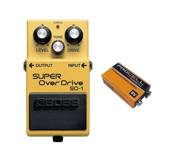 【送料込】ボス BOSS SD-1(9V電池DURACELL PROCELL 006P付) SUPER OverDrive OD-1直系、オーバードライブの原点【smtb-TK】