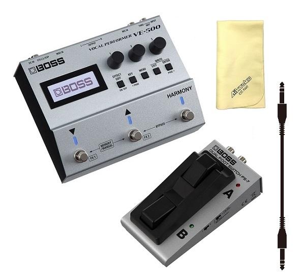 【送料込】【愛曲クロス付】【フットスイッチ/FS-7+audio-technica製接続ケーブル付】BOSS ボス VE-500 Vocal Performer ボーカル パフォーマー【smtb-TK】