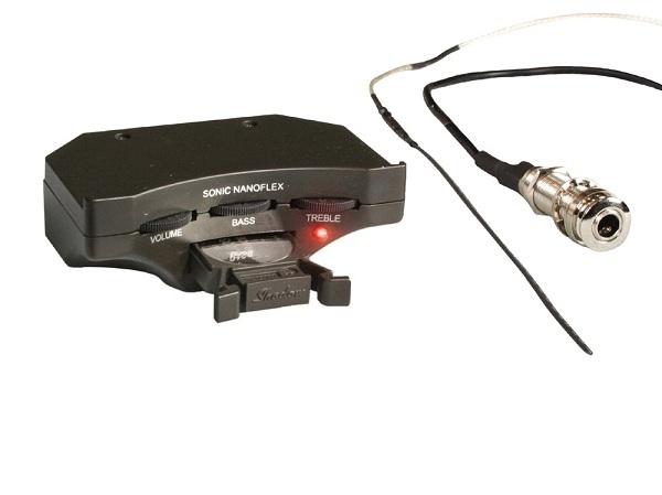 シャドウ Shadow Sonic Nanoflex プリアンプシステム(6V)w/ナノフレックス・ピックアップ、エンドピンジャック:愛曲楽器バーゲンセンター