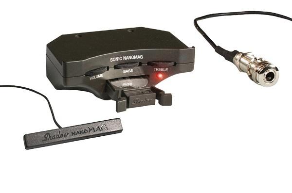 シャドウ Shadow Sonic Nanomag プリアンプシステム(6V)w/ナノマグ・ピックアップ、エンドピンジャック、取付け用シート