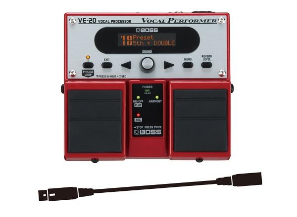 【送料込】ボス BOSS VE-20+XLRケーブル ボーカルのサウンド・クオリティを上げるボーカル専用エフェクター【smtb-TK】