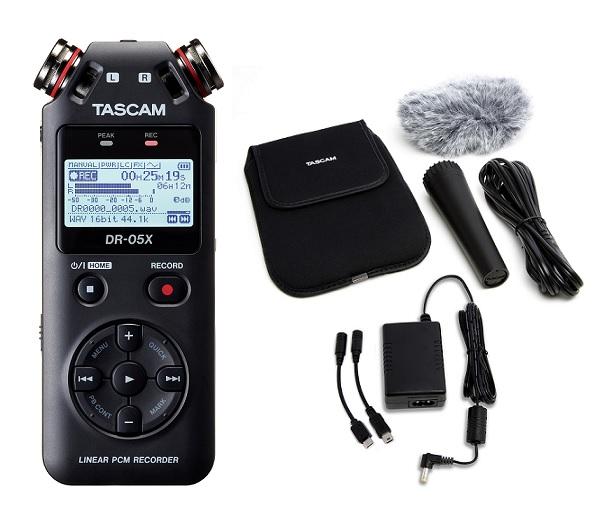 【送料込】【アクセサリーパッケージ/AK-DR11GMK2付】TASCAM タスカム DR-05X ステレオオーディオレコーダー/USBオーディオインターフェース【smtb-TK】