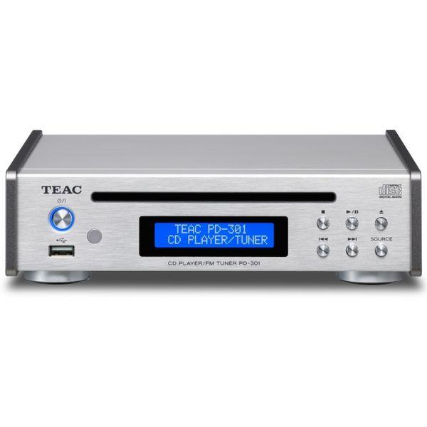 【送料込】TEAC/ティアック PD-301-S CDプレーヤー/FMチューナー ワイドFM、USBメモリ音楽再生対応【smtb-TK】