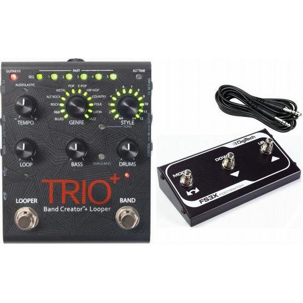 【送料込】【純正フットスイッチ FS3X付】DigiTech デジテック TRIO+(プラス) Band Creator plus Looper リズムマシン プラス ルーパー ベース&ドラムパートを自動生成【smtb-TK】