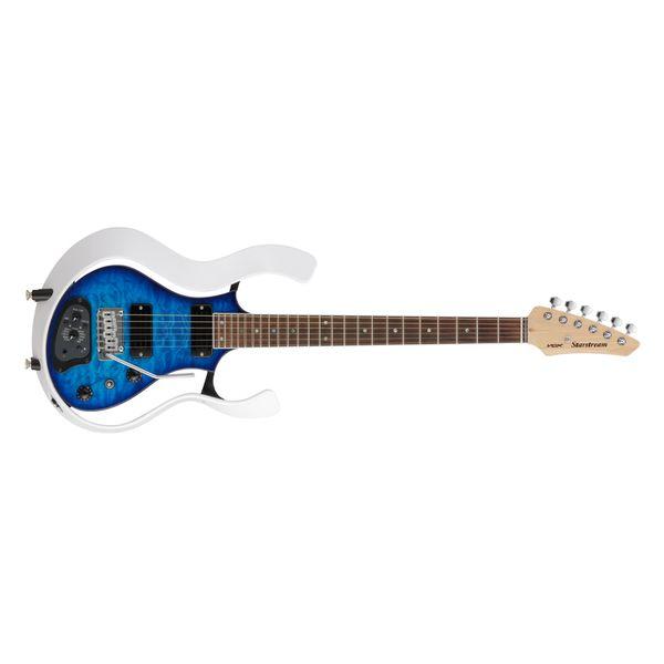 【送料込】【アウトレット】VOX ヴォックス VSS-1-24MWTL-Q [TRANS BLUE/QULTED MAPLE TOP] Starstream パッシブ・モード 搭載 モデリング・ギター 【smtb-TK】