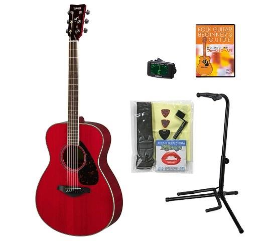 【送料込】【BOSSクリップチューナー+教則DVD等付10点セット】YAMAHA ヤマハ FS820/RR ルビーレッド アコースティックギター【smtb-TK】