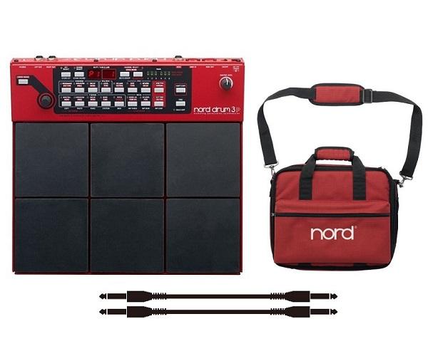 【送料込】【純正ソフトケース/Soft Case Drum 3P+audio-technica製接続ケーブル*2本付】【正規輸入品】Clavia クラヴィア Nord Drum 3P 音源とパッド一体型ボディ ノード・ドラム/モデリング・パーカッション・シンセサイザー【smtb-TK】