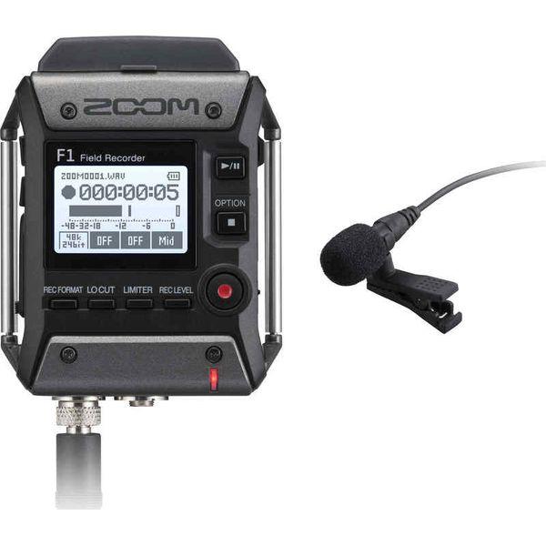 【送料込】ZOOM ズーム F1-LP 軽量コンパクトなフィールドレコーダー+ラベリアマイク【smtb-TK】