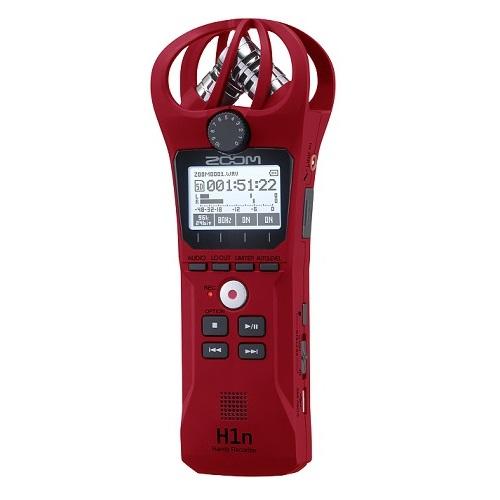 【送料込】ZOOM ズーム H1n/R レッド シンプル操作の高音質レコーダー 愛曲楽器創業70周年記念モデル/愛曲楽器限定販売【smtb-TK】
