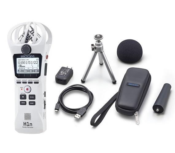 【送料込】【アクセサリパッケージ/APH-1n付】ZOOM ズーム H1n/W ホワイト シンプル操作の高音質レコーダー【smtb-TK】