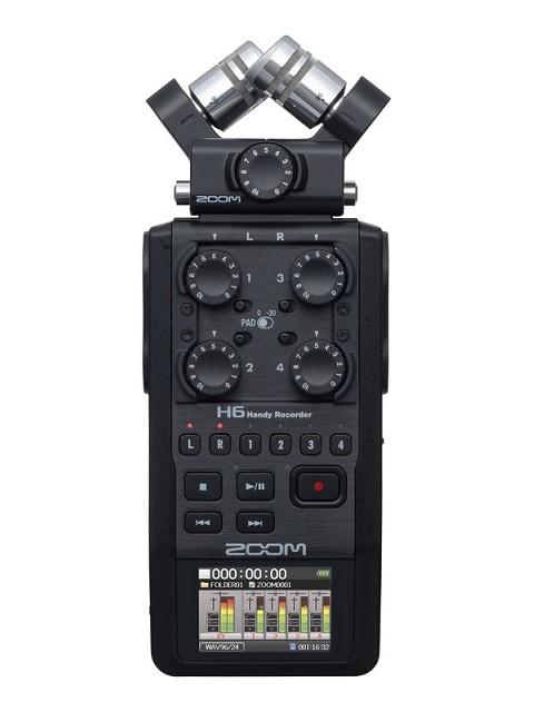 【ポイント5倍】【送料込】ZOOM ズーム H6/BLK ポータブルレコーダー【smtb-TK】