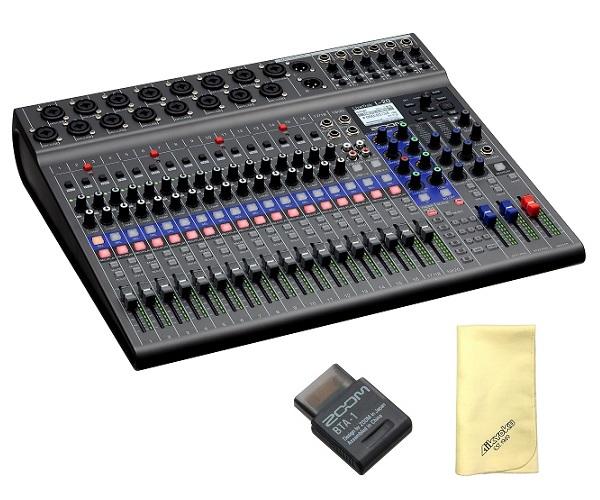 【送料込】【愛曲クロス付】【Bluetoothアダプタ/BTA-1付】ZOOM ズーム LiveTrak L-20 20-Track Live Mixer / Recorder スリーピースも、大編成バンドも【smtb-TK】