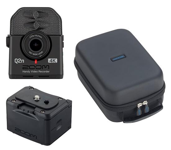 【送料込】【外部バッテリーケース/BCQ-2n+汎用型ソフトシェルケース/SCU-20付】ZOOM ズーム Q2n-4K ミュージシャンのための4Kカメラ Handy Video Recorder ハンディビデオレコーダー【smtb-TK】