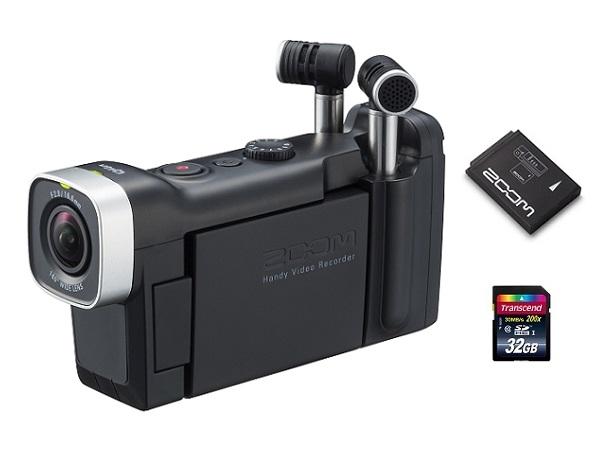 【送料込】【追加充電式バッテリー/BT-02+SDHCカード/32GB付】ZOOM ズーム Q4n 音にこだわるクリエイターのためのビデオレコーダー【smtb-TK】