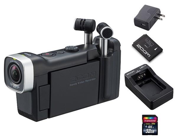 【送料込】【追加充電式バッテリー+BT-02充電器+ACアダプター+SDHCカード/32GB付】ZOOM ズーム Q4n 音にこだわるクリエイターのためのビデオレコーダー【smtb-TK】